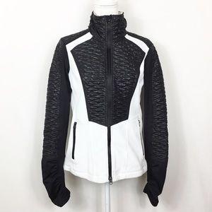 Zella Thumbhole Fleece Ruched Track Jacket